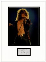 Robert Plant Autograph Signed Display